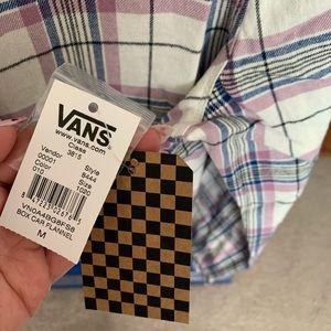 Vans Tops - New! Vans Box Car Plaid Flannel Shirt Size Medium